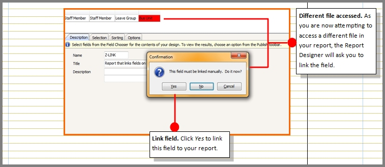 Setting the Chris21 report writer file link