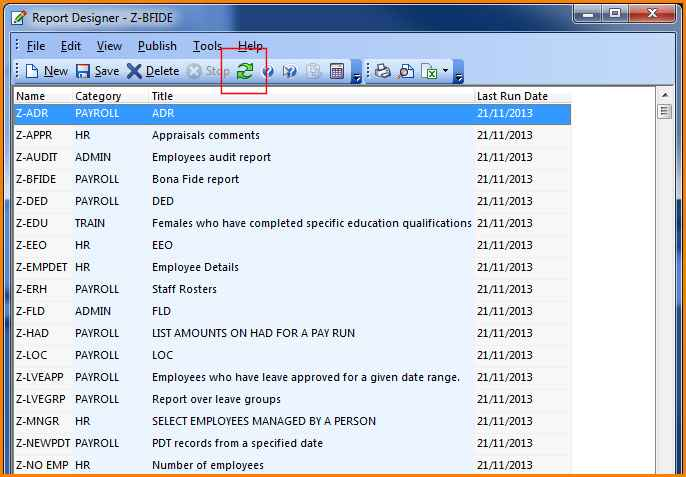 Categorise Your Chris21 Reports