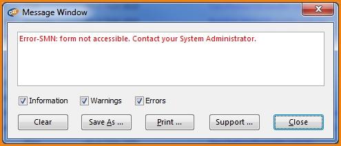 Chris21 error message