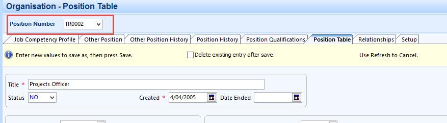 Enter data in Chris21